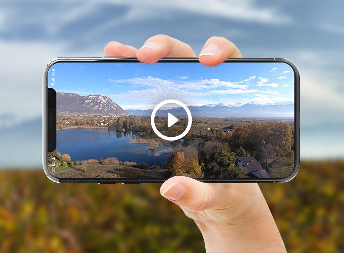 Captation de vidéo par drone (survol) en Savoie